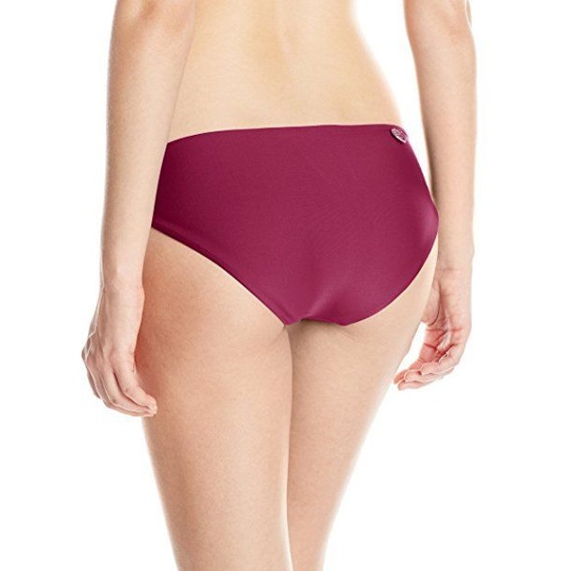 Body Glove Women's Smoothies Ruby Bikini Bottom, Black Plum, SZ SMALL
