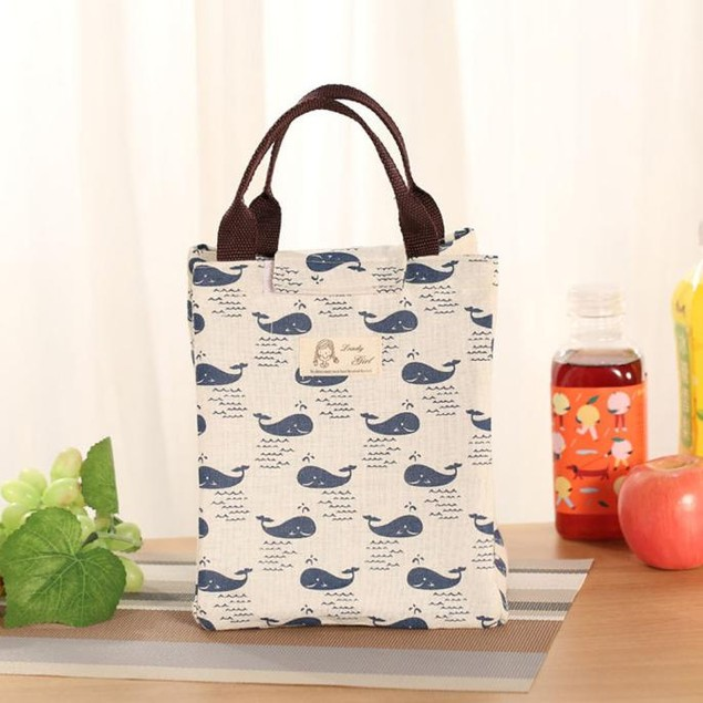 Insulation Package Portable Waterproof Canvas Lunch Bags Lunch With Rice