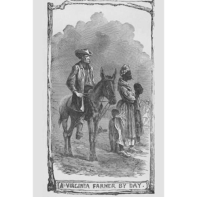 African American Slaves with a Farmer Poster