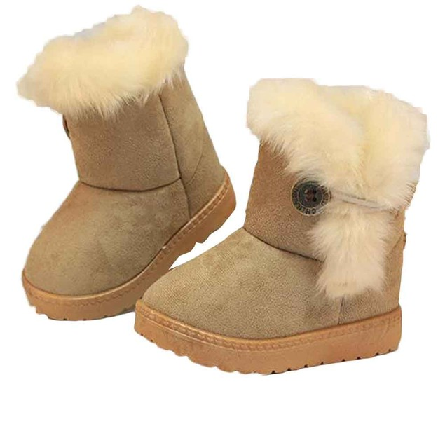 Fashion Winter Baby Girls Child Snow Boots Warm Shoes