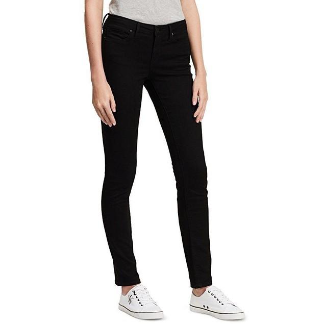 Calvin Klein Jeans Women's Skinny Jean,Black, SZ: 8W 30L