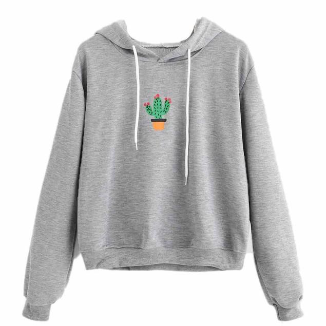 Women Hoodie Sweatshirt Jumper Sweater Crop Pullover Tops