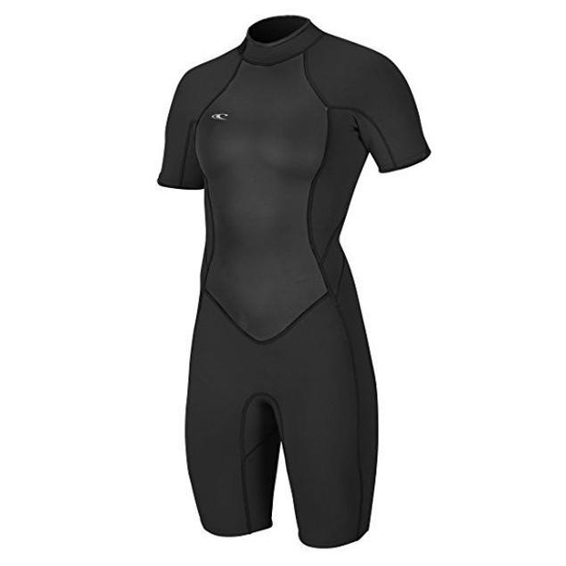 O'Neill Women's Bahia 2/1mm Back Zip Short Sleeve Spring Wetsuit  Sz: