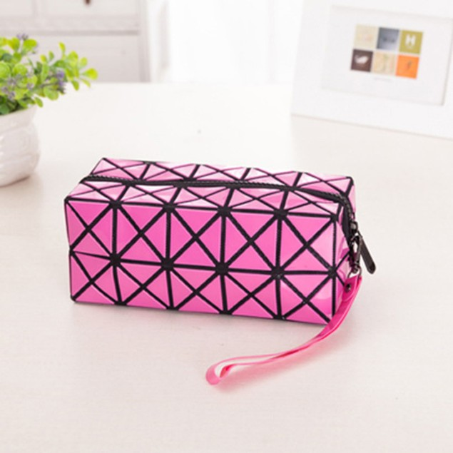 2-Pack Diamond Design Cosmetic Travel Bag