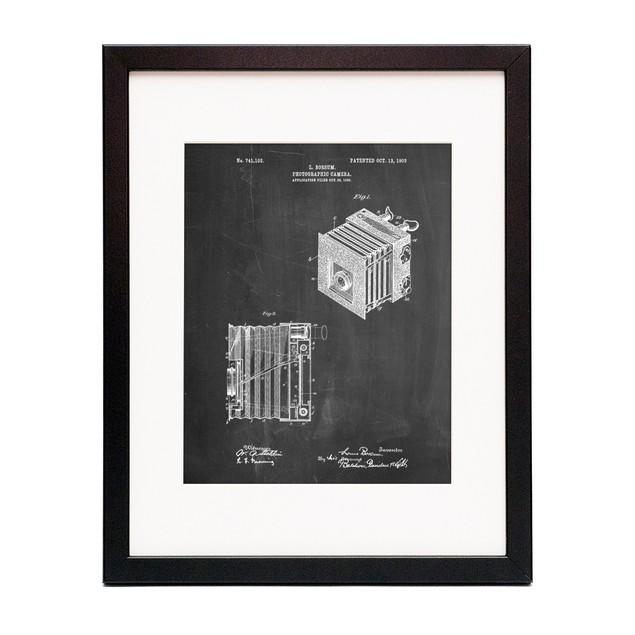 Reflex Camera Patent Poster