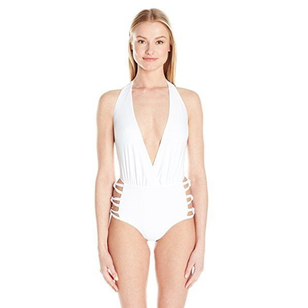 6 Shore Road By Pooja Women's White Love One Piece SIZE MEDIUM