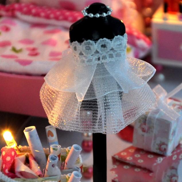 Miniature DIY Wooden Dollhouse Mini Creative Room w/ Furniture