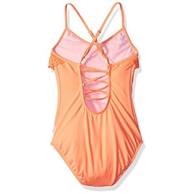 Seafolly Big Girls' Tropical Tank One Piece Swimsuit Rockmelon, AUS SZ