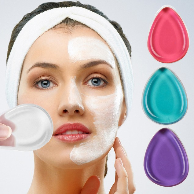 4 Colour Silicone MakeUp Sponge Puff Applicator Tool Foundation Blender
