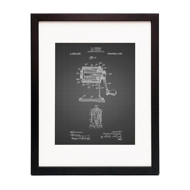 Pencil Sharpener Patent Poster