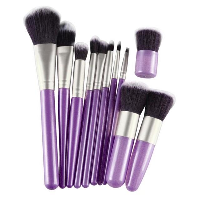 11Pcs Cosmetic Brush Makeup Brush Sets Kits Tools