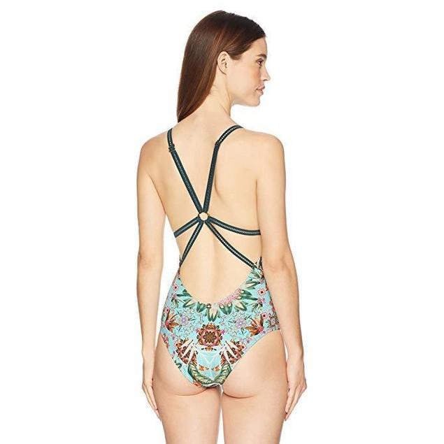 OndadeMar Women's Triangle One Piece Swimsuit, Amazonia, SZ: M