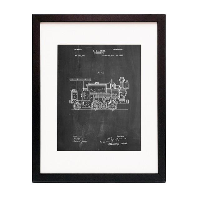 Steam Locomotive 1886 Patent Poster