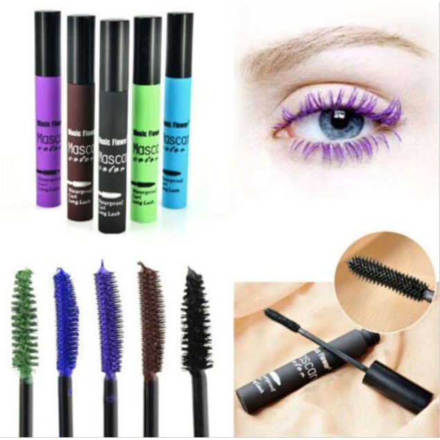 Colorful Makeup Eyelash Long Curling Mascara Eye Lashes Extension