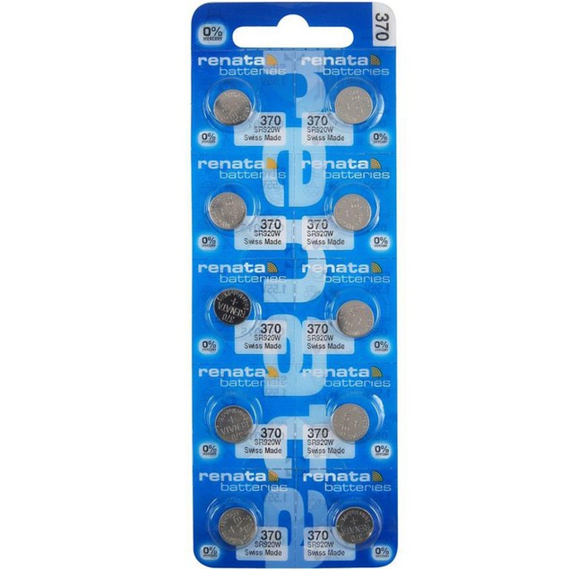 Renata 370 (SR920W) Silver Oxide Watch Batteries (10 Pack)
