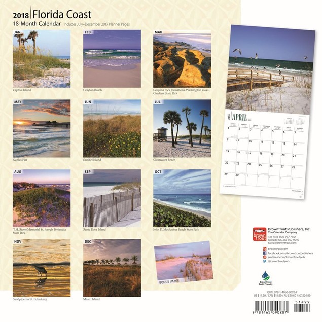 Florida Coast Wall Calendar, Florida by Calendars