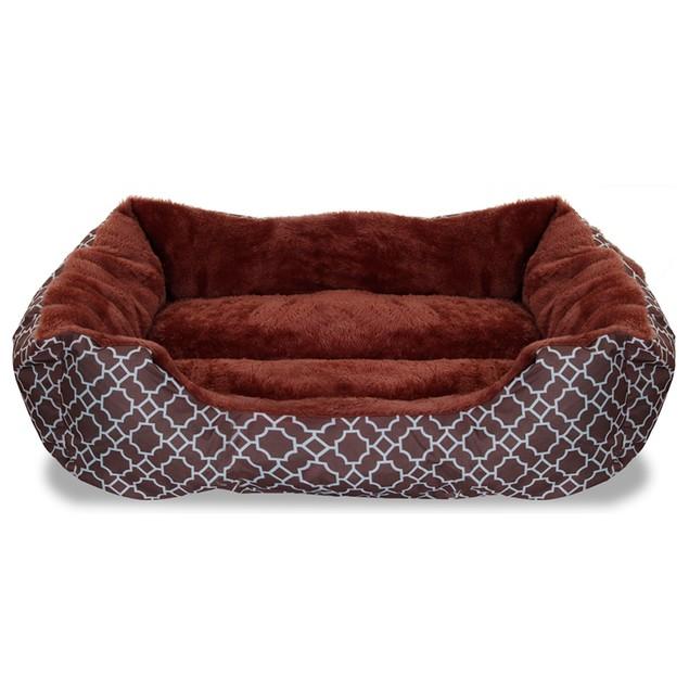 """Deluxe Ultra-Soft 22"""" x 18"""" Comfy Pooch Lattice Pet Bed"""