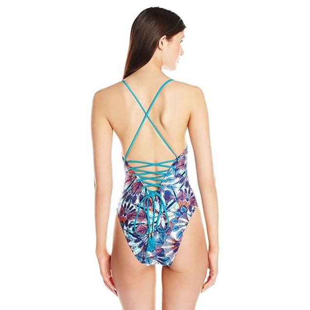 MINKPINK Women's Flash Back One Piece Swimsuit, Multi, sz Small