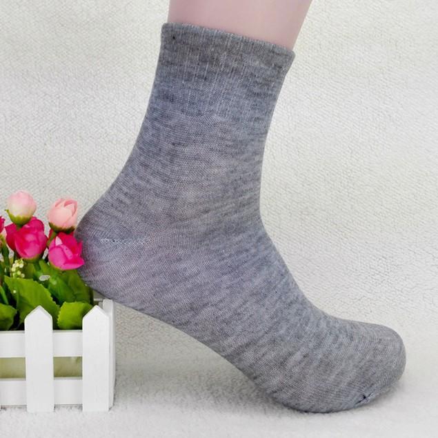 5PCS High Quality Mens Business Cotton Socks Casual Gray Black White Socks