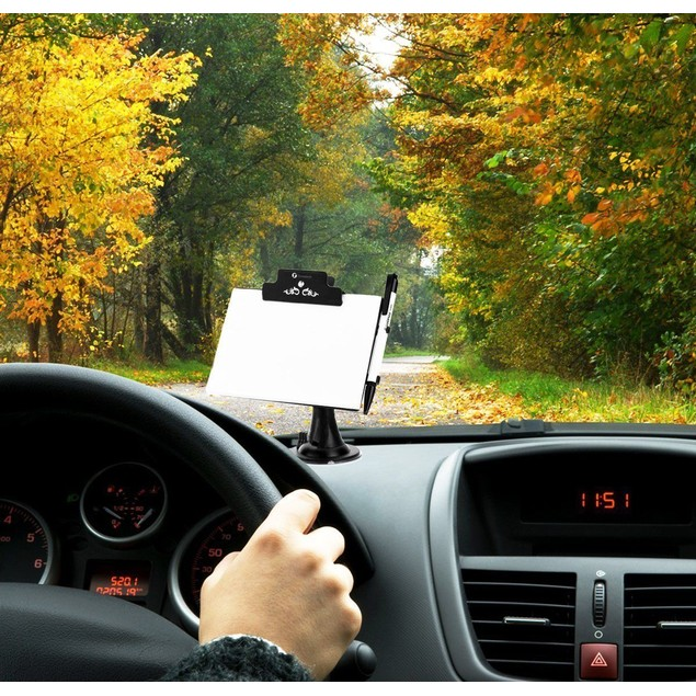 Zone Tech Car Window Suck Mount Tablet Message Notes Writing Pad Holder