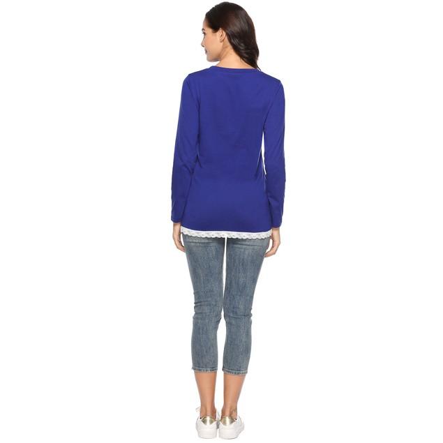 Rounded Lace Bottom Shirt