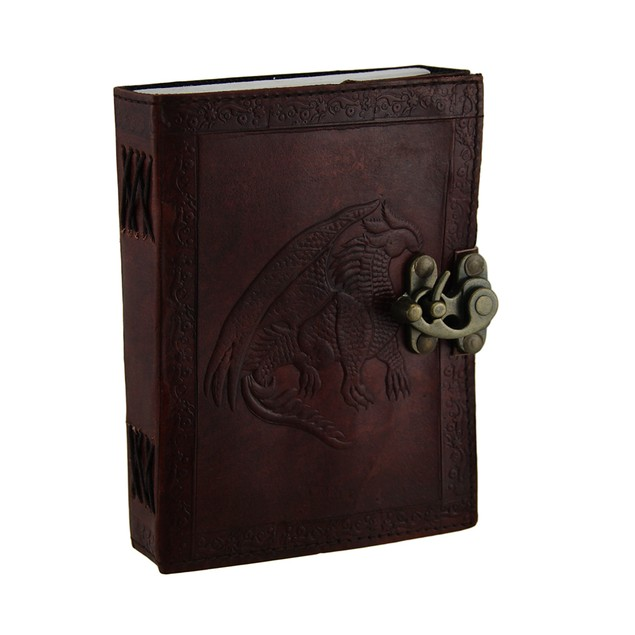 Leather Bound Dragon Journal With Brass Clasp 120 Art Sketchbooks And