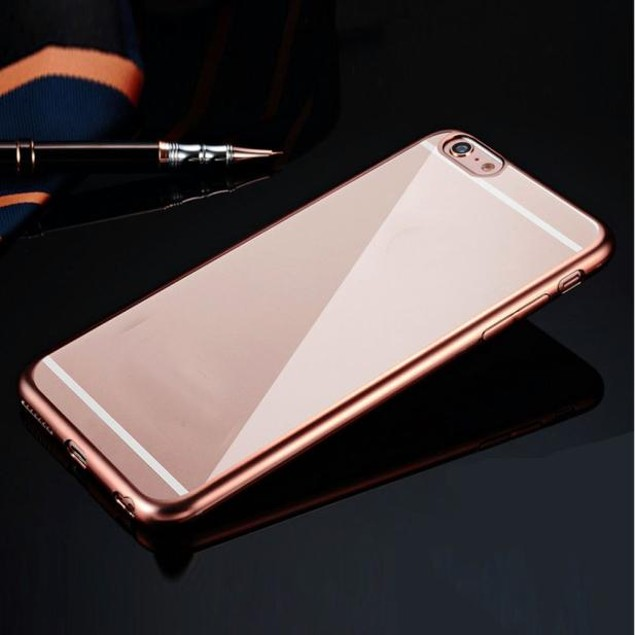 Clear Crystal Rubber Plating TPU Soft Case Cover For iPhone