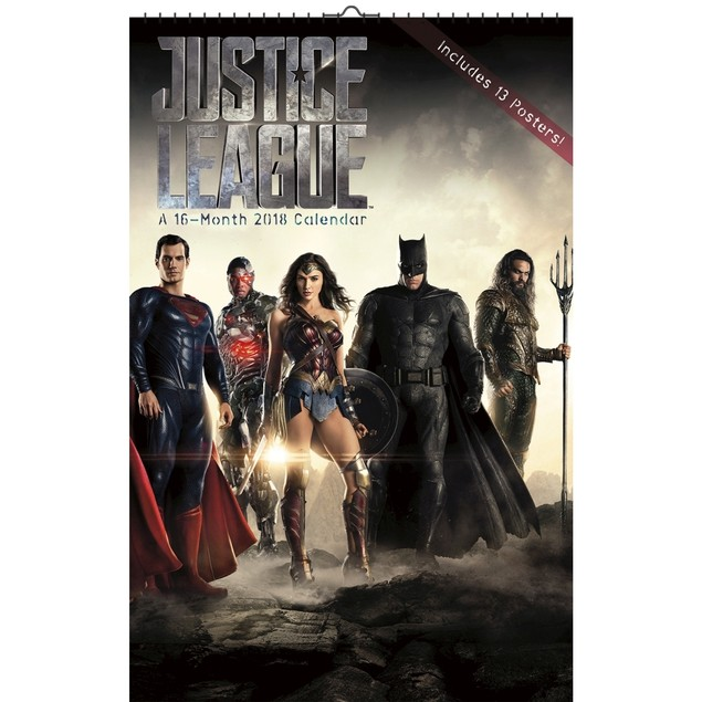 Justice League Poster Wall Calendar, Action Movies by Trends International