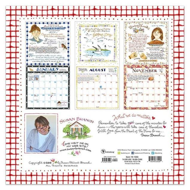 Susan Branch Wall Calendar, More Folk Art by TF Publishing