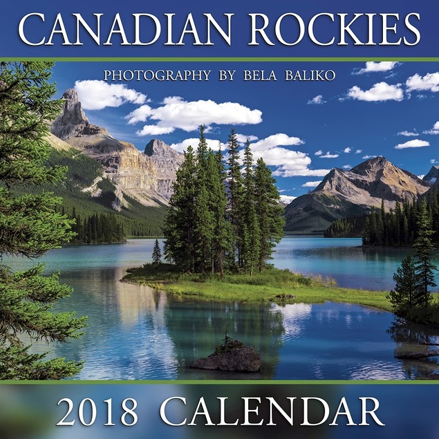 Canadian Rockies Spirit Island Mini Wall Calendar, Canada by Bela Baliko