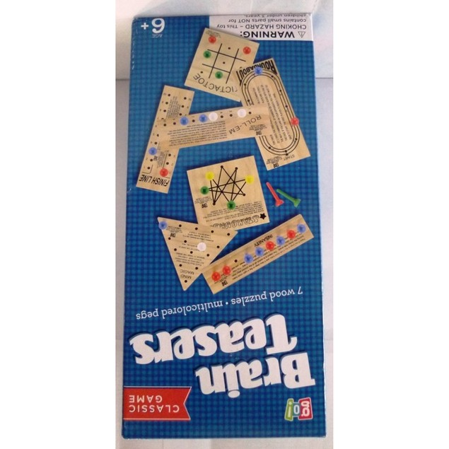 Wooden Teasers Set, Classic Games by Go! Games