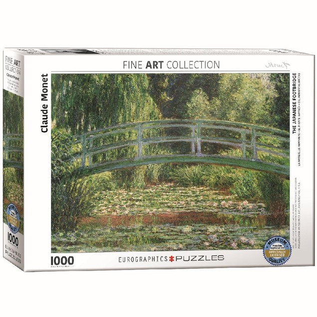 Claude Monet The Japanese Footbridge 1000 Piece Puzzle, 1,000 Piece Puzzles