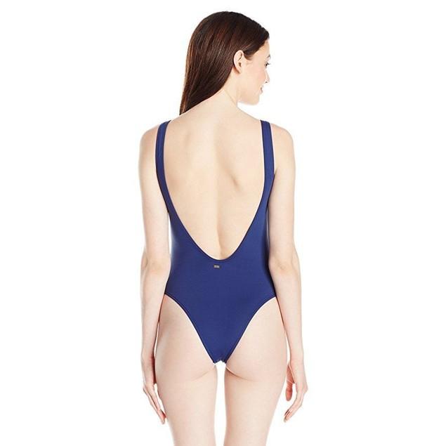 Rip Curl Women's Designer Surf One Piece Swimsuit, Navy, L
