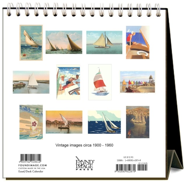 Sailing Easel Calendar, Boats by Found Image Press