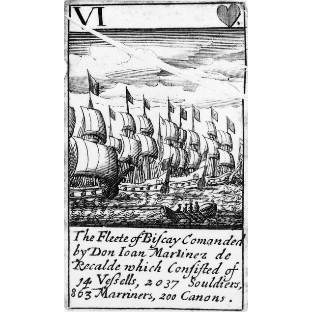 Spanish Armada, 1588. /N'The Fleete Of Biscay Commanded By Don Juan Martine