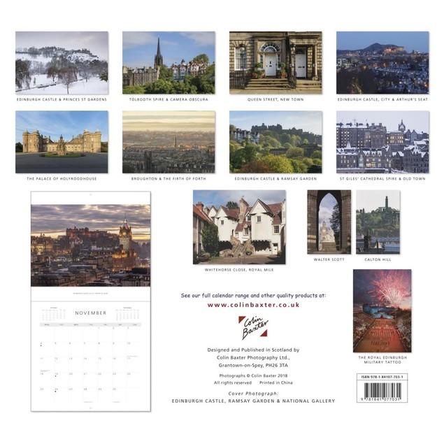 Edinburgh Wall Calendar, Scotland by Colin Baxter Photography