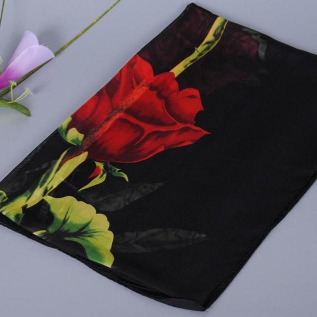 Fashion Women Rose Long Soft Wrap Scarf Ladies Shawl Chiffon Scarf Scarves