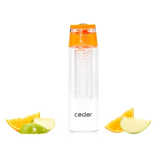 Cedar 24oz Fruit Infuser Water Bottle  BPA-Free Premium Tritan