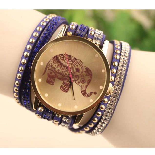 Boho Wrap Elephant Watch & Bracelet