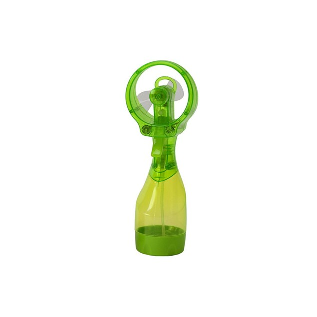 Handheld Battery-Operated Ice Water Misting Fan with Flexible Blades