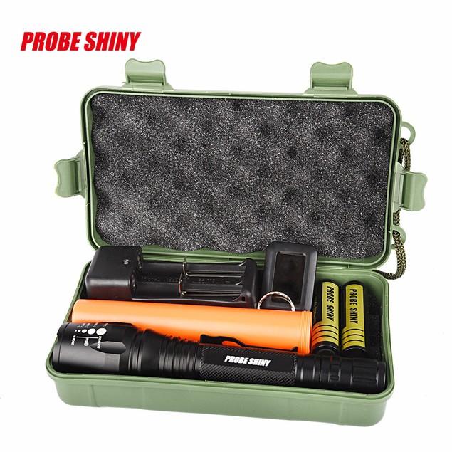 Super Bright XM-L T6 LED Adjustable Focus Rechargeable Flashlight Torch