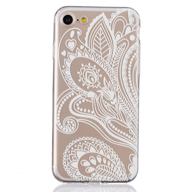 Grass Flower Pattern Clear Case Cover Skin For iphone7 4.7Inch