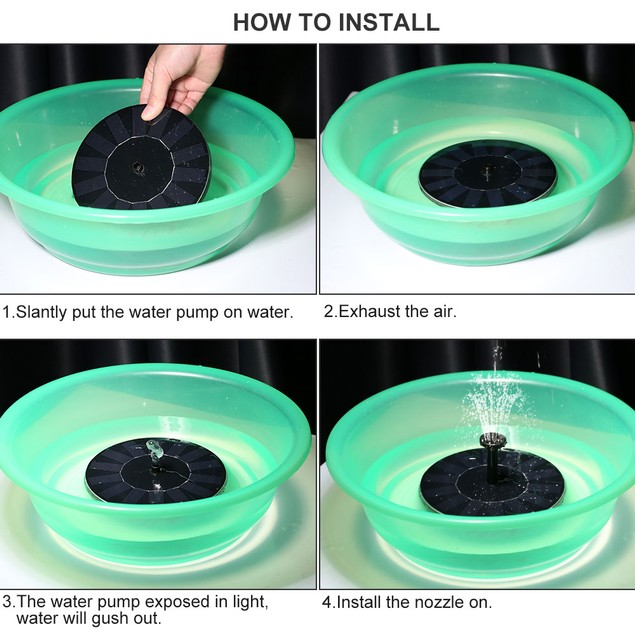 Solar Powered Fountain Pump (Watch the Video)