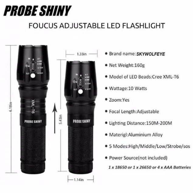Bright 5000LM X800 shadowhawk T6 LED Flashlight Torch Lamp