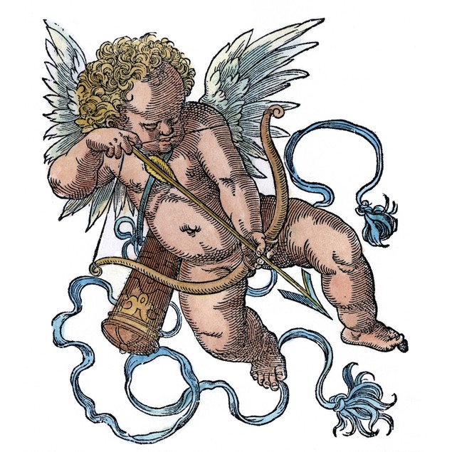 Cupid. /Nwoodcut, 1599, By Jost Amman. Poster