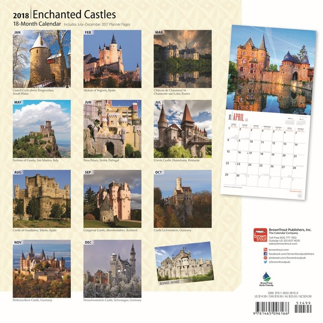 Castles Wall Calendar, Castles by BrownTrout