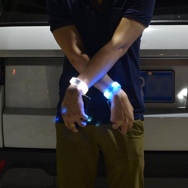 Sound Controlled Voice LED Light Up Bracelet Activated Glow Flash Bangle