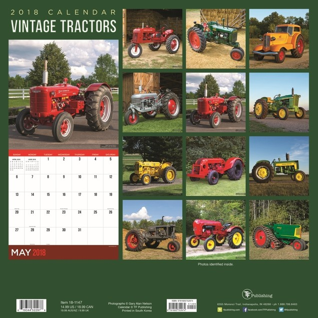 Vintage Tractors Wall Calendar, Tractors by TF Publishing