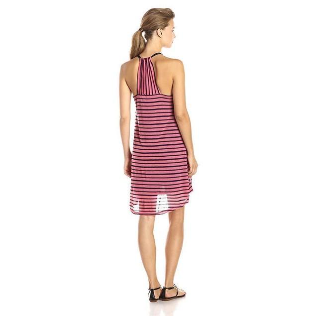 Splendid Women's Valletta Stripe Jersey Tank Dress, Desert Rose, Large