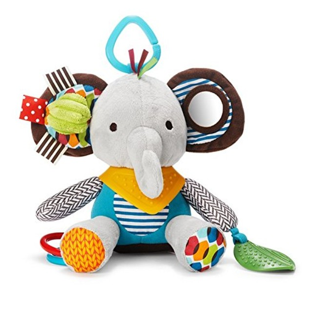 Toy with Multi-Sensory Rattle and Textures, Elephant